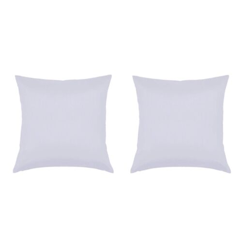 2 Pack 18x18 White Throw Couch Pillow Covers Minimalist Modern Home Decor