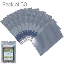 50pcs Anti Static Bag Zipper Storage Pouch Motherboard Electronics Components
