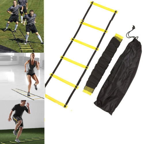 5 Rung 10ft Agility Ladder for Soccer Football Speed Training Bag Outdoor