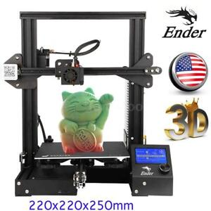 Details about Creality Ender-3 3D Printer MK8 High-precision 220x220x250mm  Resume+PLA Filament