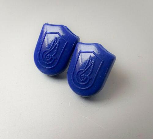 2x Terminali cinghietti blu vintage Campagnolo super record end strap eroica