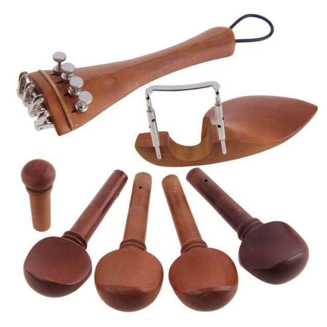 A Natural Jujube wood 4/4 violin Parts accessories Set of Fine-Tuning, Chin W5R2