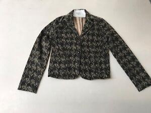 GAP-Vintage-Cord-Jacket-in-Floral-Black-UK-8-Armpit-Armpit-19-034-Lgth-24-034-583