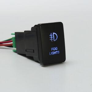 Blue-LED-Fog-Light-Rocker-Push-Switch-On-Off-For-Toyota-Landcruiser-Yaris-RAV4