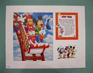 Disney-Characters-11-034-x-14-034-034-PLAY-TIME-034-Lithograph-Print