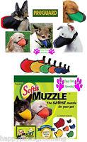 GENUINE SOFTIE COMFORT DOG MUZZLE Padded Heavy Duty Nylon Quick-Fit,Adjustable