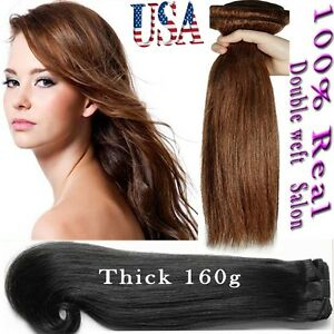 Thick Human Hair Extensions Ebay 109