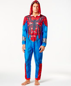 NWT Marvel Spider-Man Men/'s Costume Union Suit One Piece Pajamas M L XL