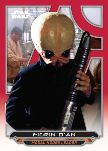 Topps Star Wars Card Trader GALACTIC FILES W2 RED Figrin DAn DIGITAL 100cc