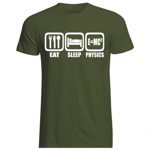 COLS EAT SLEEP PHYSICS T-SHIRT All SIZES Gildan E=MC2 Einstein science