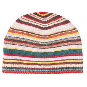 Paul Smith Beanie Hat - NEW Signature Multi-Stripe  Cashmere mixed ... 660c49737c7