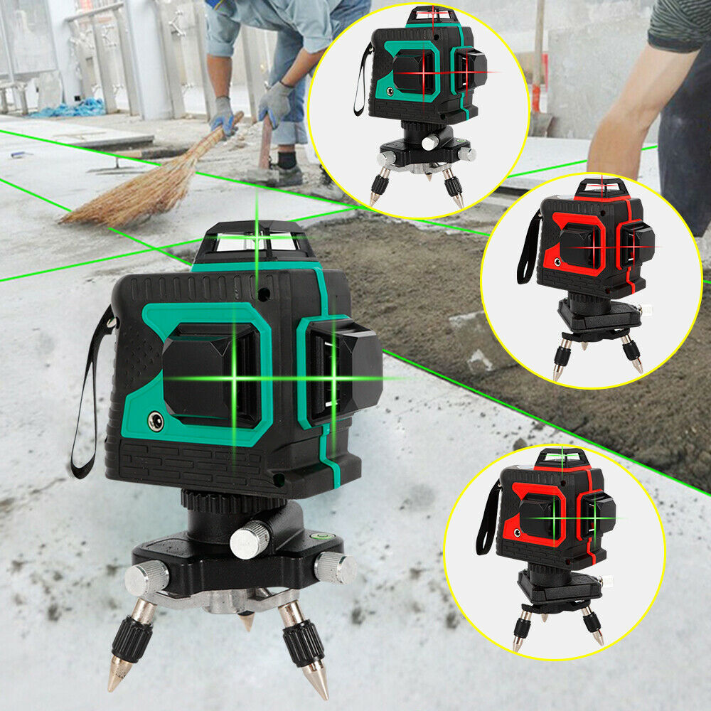 3D Green Red Laser Level 12 Lines 360° Horizontal & greenical Cross Build Tool