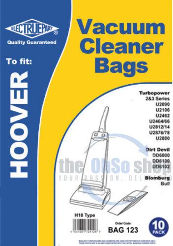 Vacuum Cleaner Bags H18 Type 10 x HOOVER TURBOPOWER SERIES 3