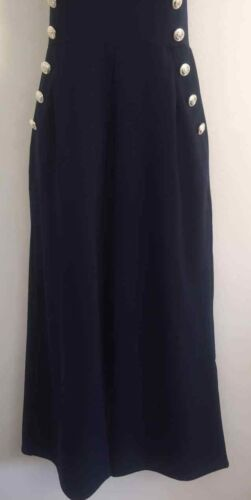 NEW Ex QUIZ Size 6-16 Navy Military Button Culotte Tailored Panelled Jumpsuit