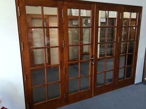 SOLID-CEDAR-COLONIAL-FRENCH-BIFOLD-DOORS-COMPLETE-amp-READY-TO-FIT-IN-STOCK