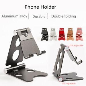 Universal-Foldable-Mobile-Phone-Holder-Aluminium-Alloy-Metal-Tablet-Desk-Stand