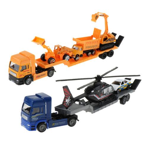 Simulations-Legierung scherzt pädagogisches Spielzeug-Auto-Anhänger-Modell