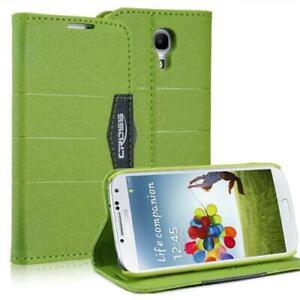 Style-Portefeuille-Coque-Pour-Samsung-Galaxy-S4-Mini-i9190-Anthracite-Vert-Etui