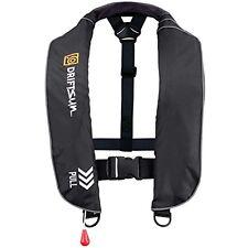 Driftsun Automatic Inflatable Life Jacket Life Vest (PFD) Universal Adult Black
