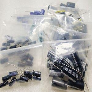 8Values-80PCS-16V-10uF-470uF-Electrolytic-Capacitor-Kit-Set-NEW
