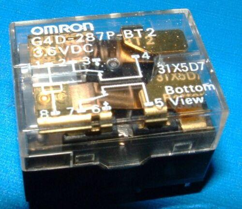 5x Omron G4D-287P-BT2-PS-3.6VDC 2 pole change over 3.6v