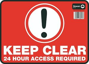 Access-Required-24-Large-Sign-Safety-Keep-Clear-Sticker-No-Parking-9-5-034-x13-034
