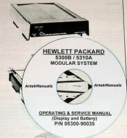 Hewlett Packard Operating & Service Manual For The 5300b / 5310a Modular System