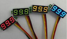2pcs Mini DC 0-100V Red LED 3-Digital Display Voltage Voltmeter Panel Motor 5V9
