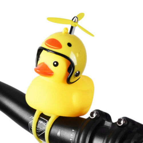 Cartoon Yellow Little Duck Shape Bicycle Bell Shining Mountain Bike Head Light ~