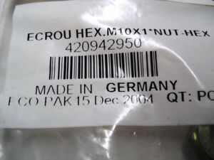 Seadoo Hex Nut M10 with Flange Part Number 233101600