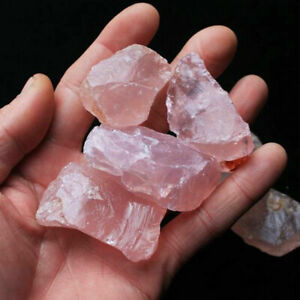 Natural-Pink-Rose-Quartz-Crystal-Stone-Collectible-Rock-Mineral-Specimen-Healing
