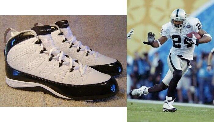NFL Nike cleats Jordan 9 IX Charles Woodson  Chaussures de sport pour hommes et femmes