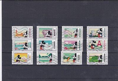 Frankreich 2018 Mickey Serie Komplett Von 12 Briefmarken Nicht Gestempelt