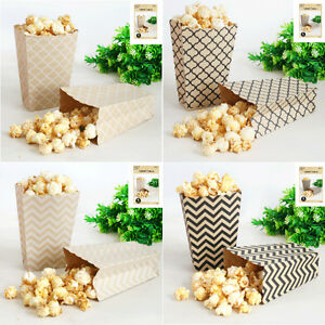 Popcorn-Boxes-Favour-Lolly-Bags-x-4-Rustic-Vintage-Country-Natural-Kraft