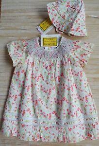 vendita all'ingrosso 100% autentico buona reputazione Dettagli su ABITO vestito neonata bambina 12 mesi marca CHICCO fiorellini  Nuovo