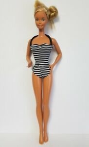 Fits-SuperSize-Barbie-18-034-CLOTHES-striped-Swimsuit-Bathing-Suit-NO-DOLL-d4e