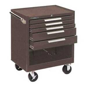 """KENNEDY 295XB 29""""W Tool Cabinet 5 Drawers, Brown, 20""""D x ..."""