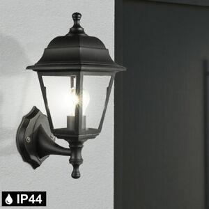 Außen Wand Laterne Terrassen Leuchte Glas Lampe schwarz ALU Strahler Beleuchtung