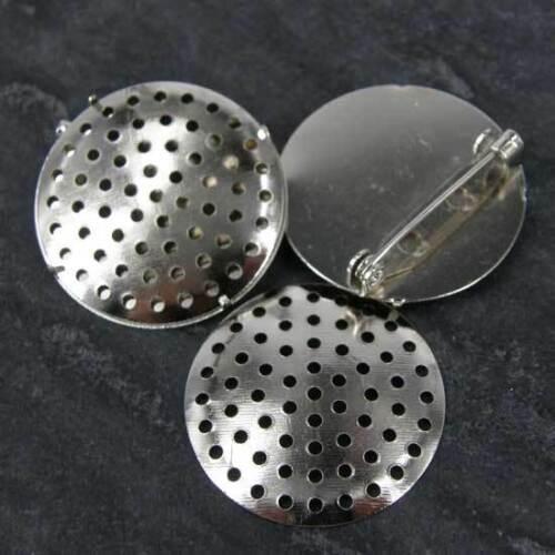 50 X Pasadores De Barra Redonda Broche espaldas círculos 28 mm BR4