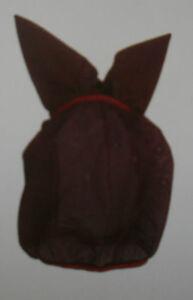 Fliegenmaske-Fliegenschutzhaube-mit-Ohren-Cama-Design-schwarz-M-Vollblut