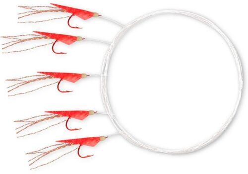 Holografix Heringsvorfach 10 Heringssystem mit 5 Haken Gr Rote Fischhaut