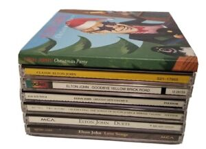 LOT OF 7  ELTON JOHN CDS ~ LOVE SONGS DUETS CHRISTMAS PARTY GREATEST HITS VOLUME