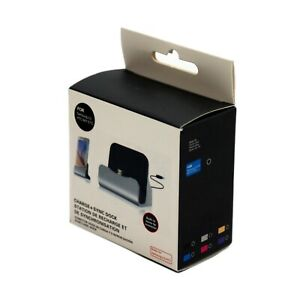 Micro USB Mobile phone Charging dock station stand Silver - New & Warranty