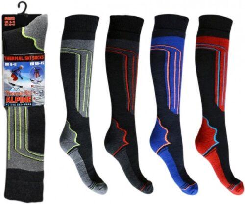 Confezione da 2 da Uomo Termico Lungo tubo flessibile ad alte prestazioni Alpine Ski Boot Socks Da Passeggio