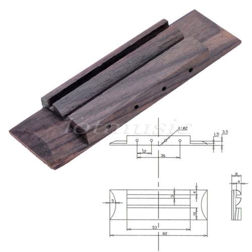 1pc Bridge For Ukulele Guitar Replacement Parts Rosewood 82mm x 25mm