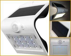Applique lampada da muro energia solare a led crepuscolare con