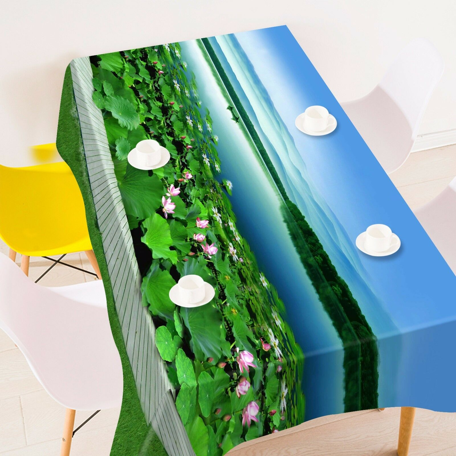 3D Lotus Lake 127 Tablecloth Table Cover Cloth Birthday Party Event AJ WALLPAPER