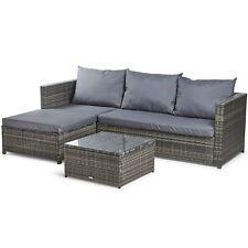 VonHaus Rattan Corner Sofa Set – Large Conservatory, Garden, Patio Set