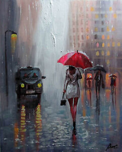 100-Hand-painted-Art-Oil-Painting-Abstract-Figure-Cityscape-16-20inch-Canvas