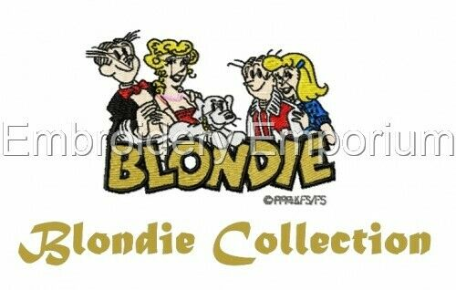 MACHINE EMBROIDERY DESIGNS ON CD OR USB BLONDIE COLLECTION